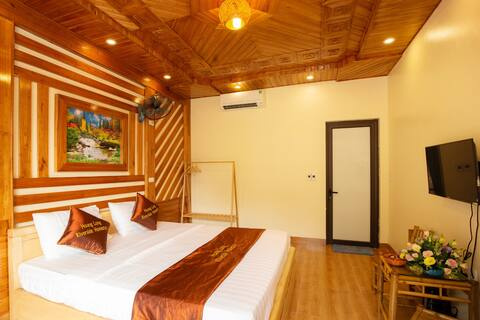 Double room with mountain_river_pool_garden view