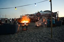 Blijburg beach has a thriving nightlife