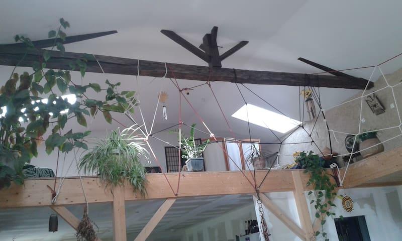 Un loft atypique en pleine campagne - Brux - Loft
