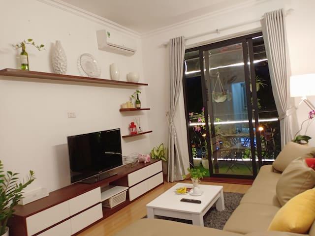 An amazing balcony apartment in Ha Noi centre