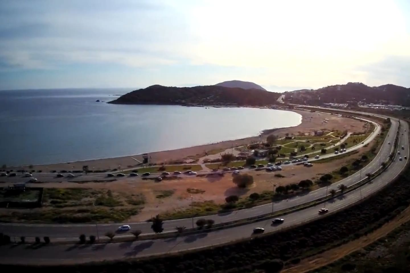 Anavyssos Beach (drone photo) - about 1.4km distance from the home
