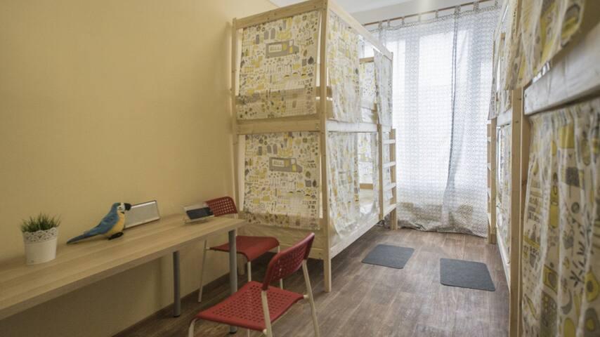 Хостелы Рус - Люберцы (жен. номер на 8 человек)