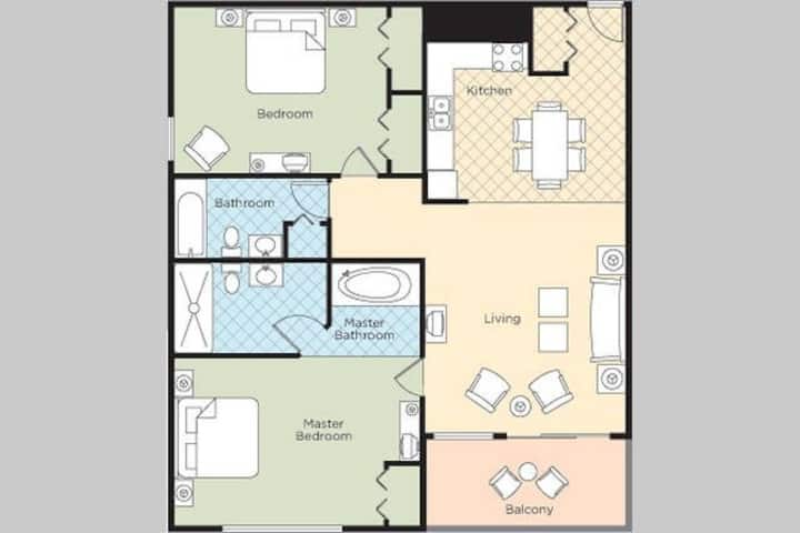Wyndham Skyline Tower 2br IB2f