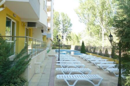 Sunny beach spacious apartment