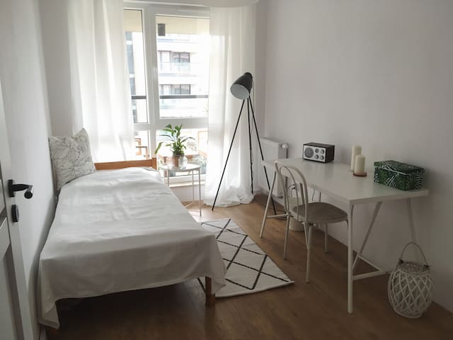 Bright room close to the city center