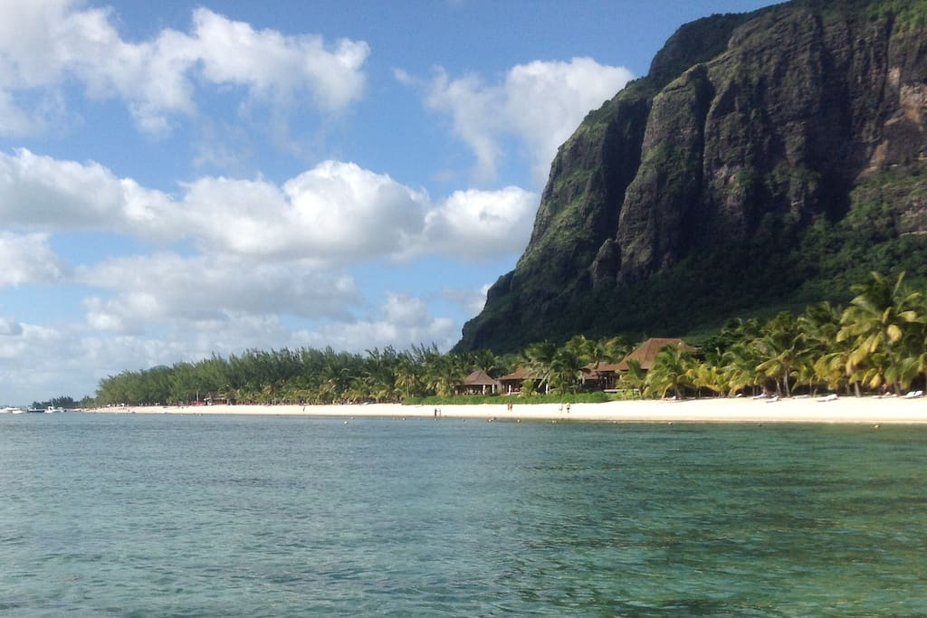 We took this picture with our IPAD in a waterproof cover. The pristine waters of Le Morne are ideal for snorkelling