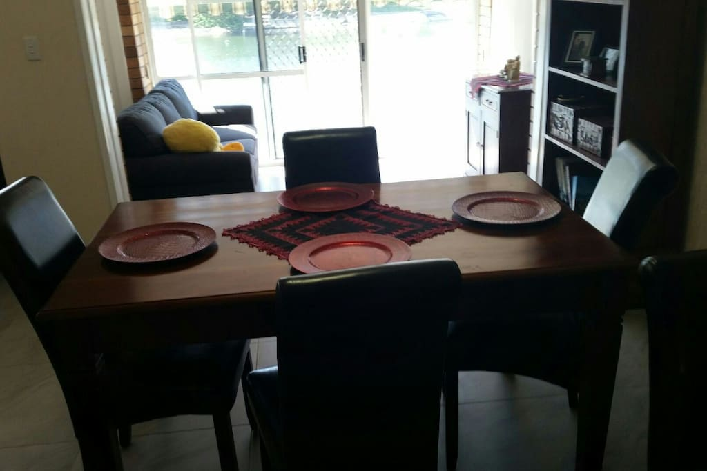 Dining area and sitting room