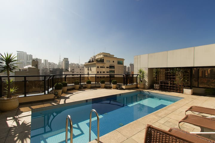 Luxury! Classy and quiet Flat in Jardins!