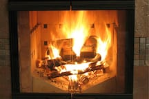 Our magnificent masonry heater in action