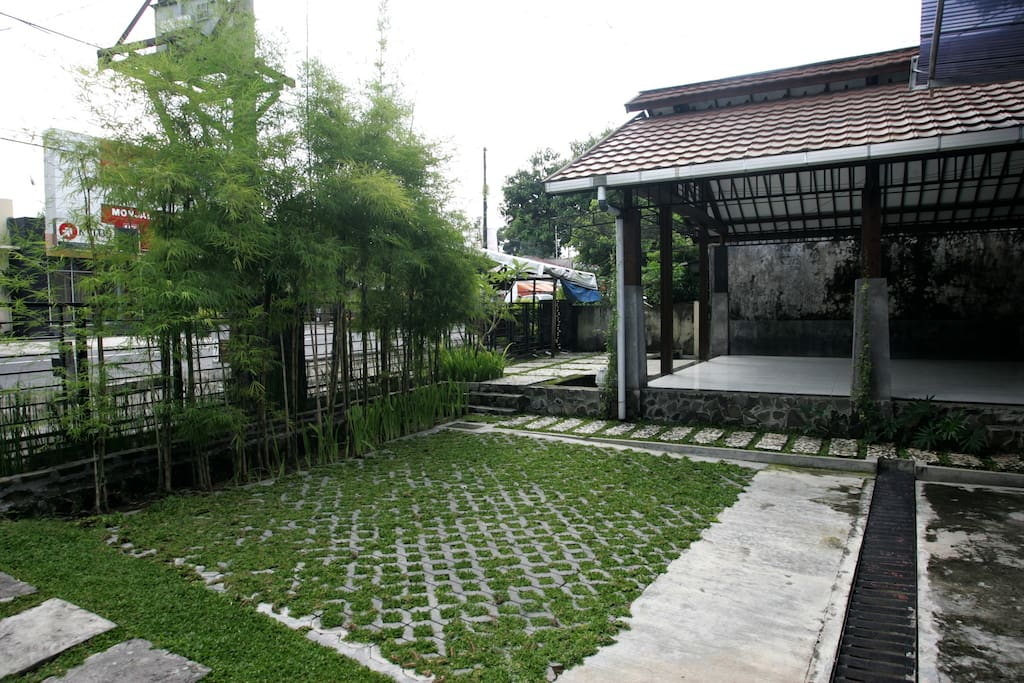 green space on the yard