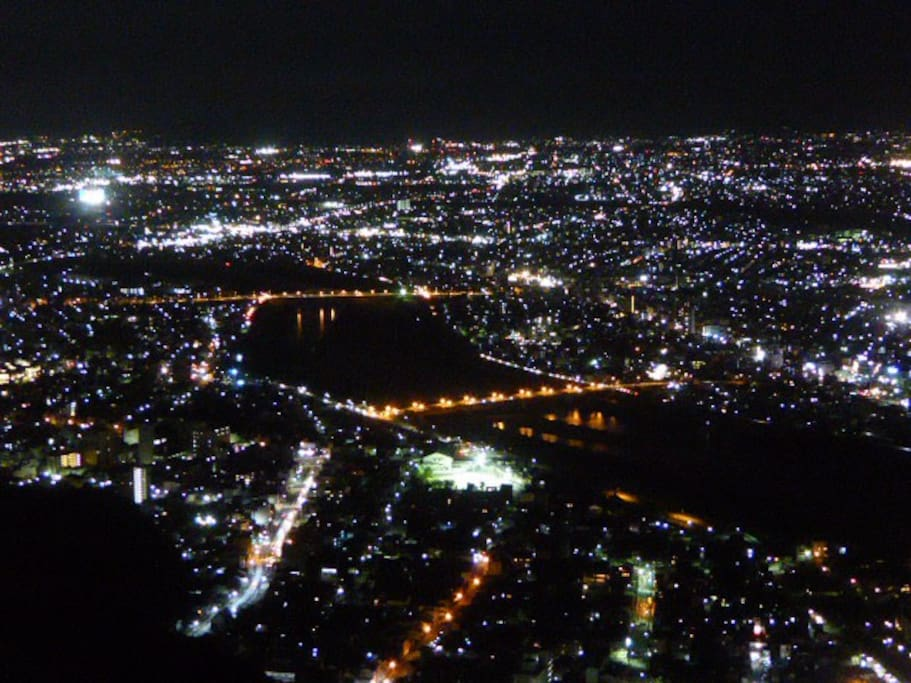 Night view from Gifu Castle.