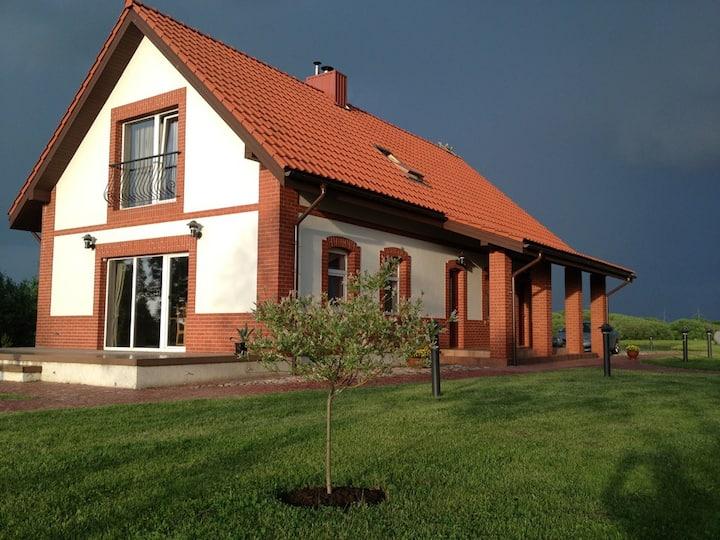 German style house with sauna