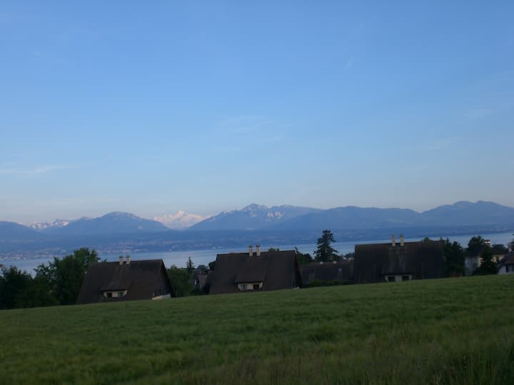 Face to the lake and the Alps!