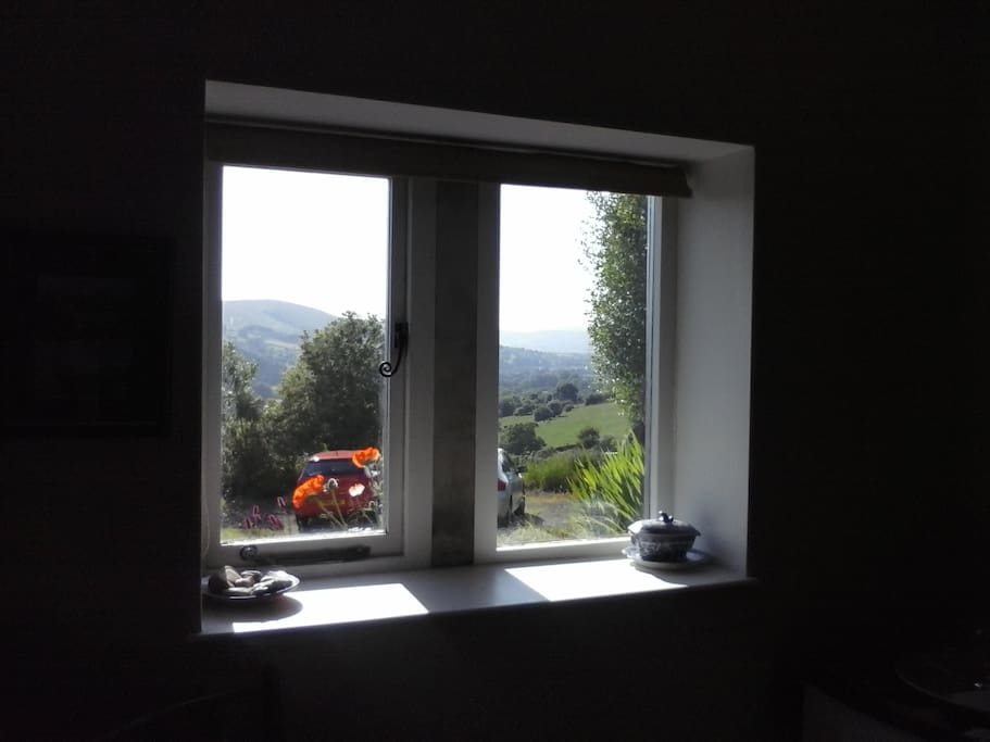 View from room with single beds/ or double.