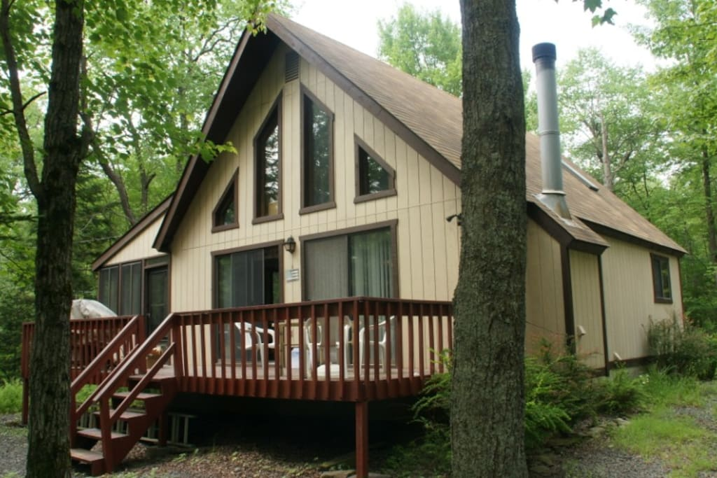 Well maintained A-frame house