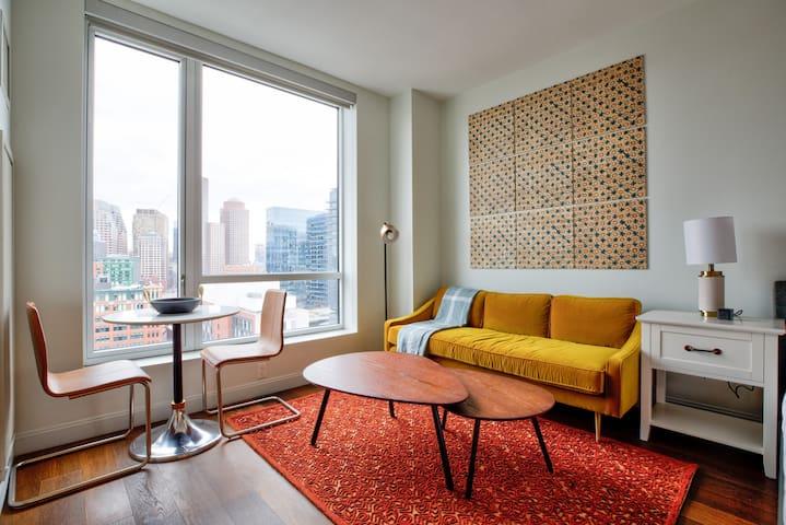Furnished Modern Studio in Boston w/ Concierge