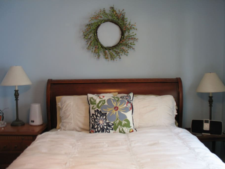 More than one guests has said our beds are super comfy, with high thread-count, cozy sheets and down comforters.