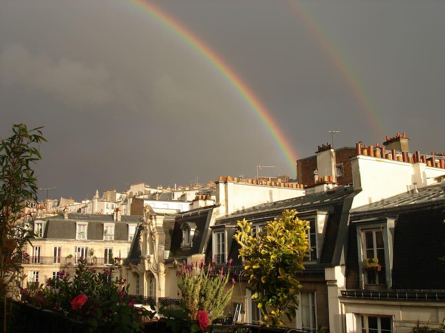 Double rainbow over Montmartre