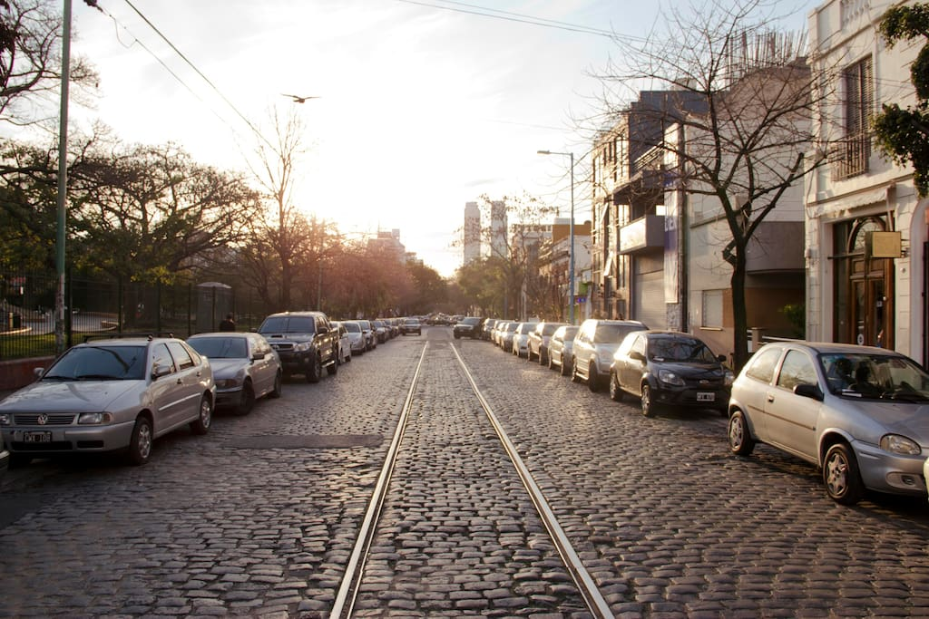 A view of the street in which the apartment is located!