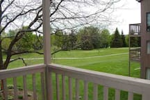 View of the golf course from the deck