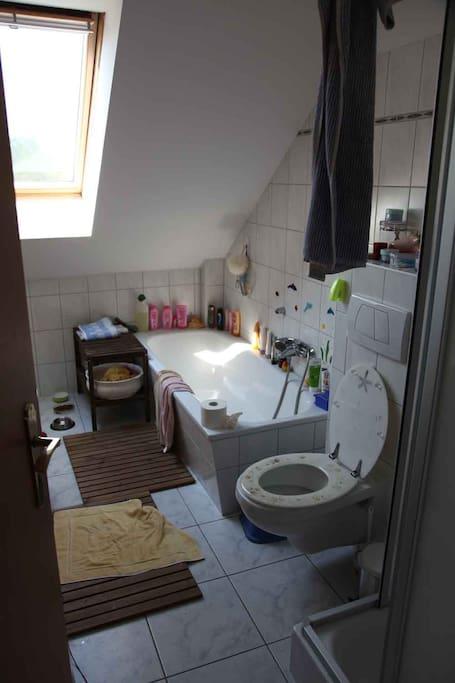 Bathroom: Shower / bath tub  |  Badezimmer: Duschkabine und Badewanne