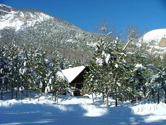 Gîte auberge les pinées - Châteauroux-les-Alpes - Chatka w górach
