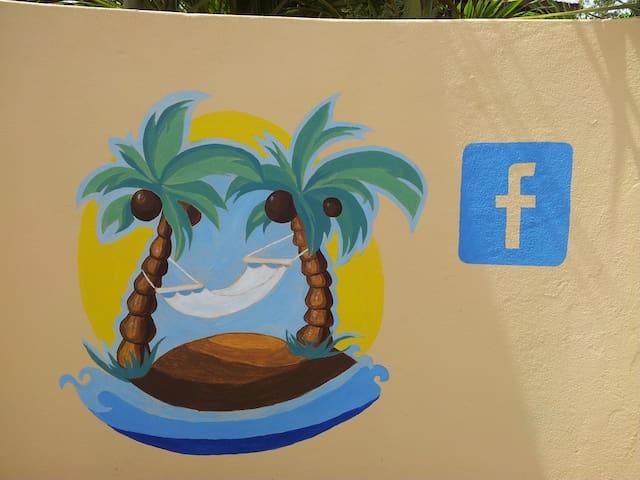 Hammocks and Palms Wall Art Right