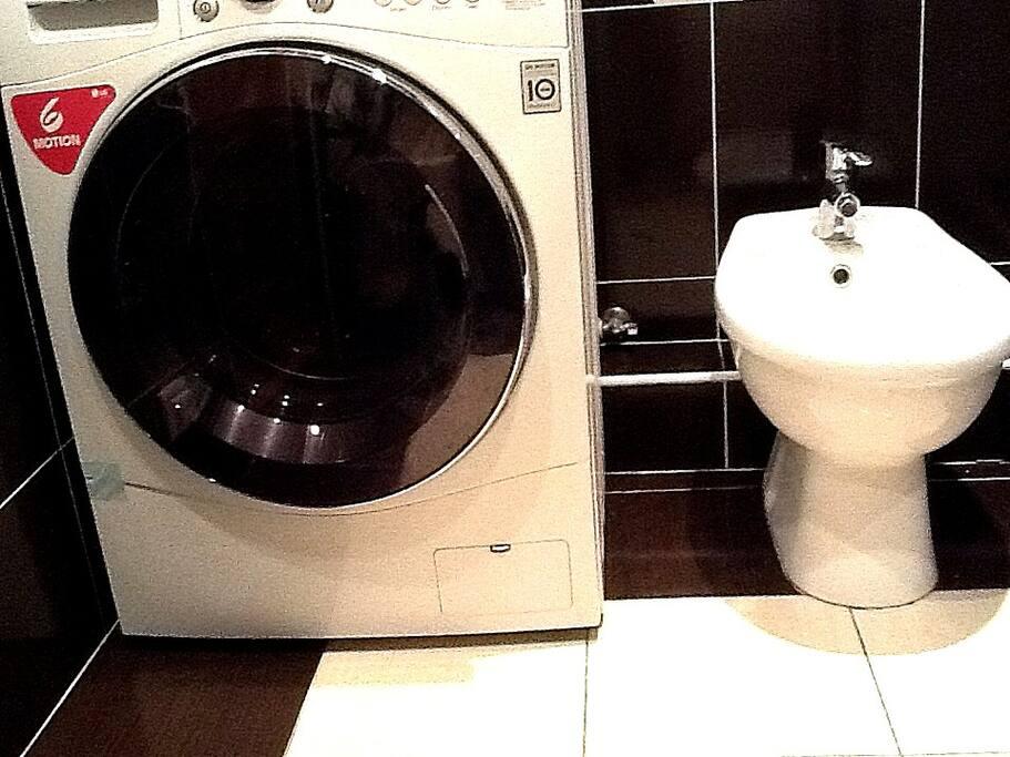 you are free to use washing maсhine and washing powder