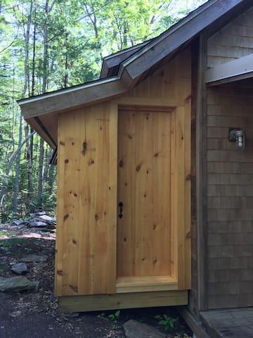 composting toilet room