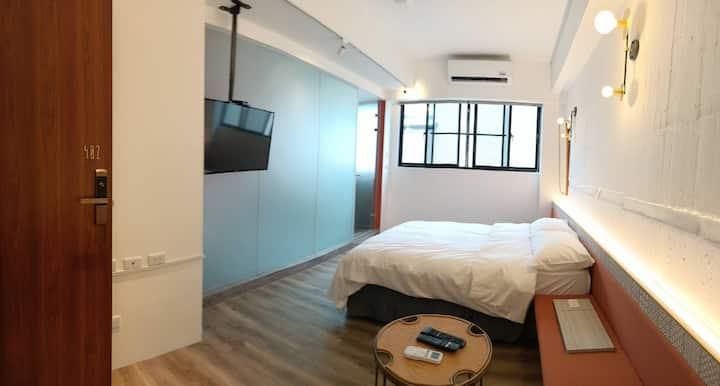 心·藝 SINYI Inn 402 1-2人入住+獨立衛浴 近安平.漁光島.億載金城