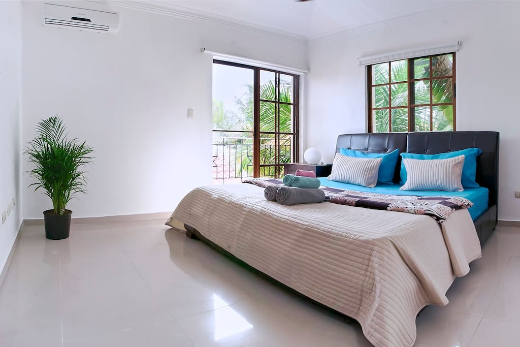 Airy and spacious bedrooms with comfortable beds and fresh linen, AC and gorgeous view from the balcony, modern design with attention to little details, that's only a part of what you get with this apartment