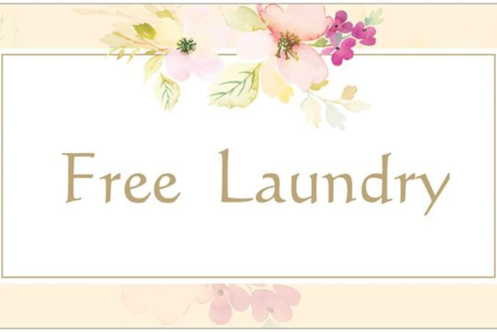 Ask host Sara about free laundry service-- if you need it.