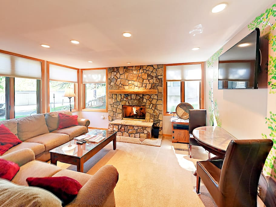 Enjoy good company and conversation in the living area