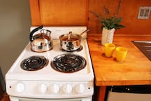 electric stove and fridge