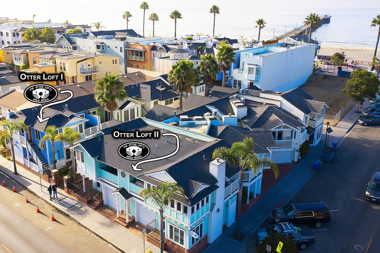 Otter Loft II is our 2 bedroom 2.5 bath corner condo in the heart of downtown Avila Beach! Amazing location just steps to the beach, boardwalk and pier. Bright and open end unit with 3 balconies and private double garage. Park and play!