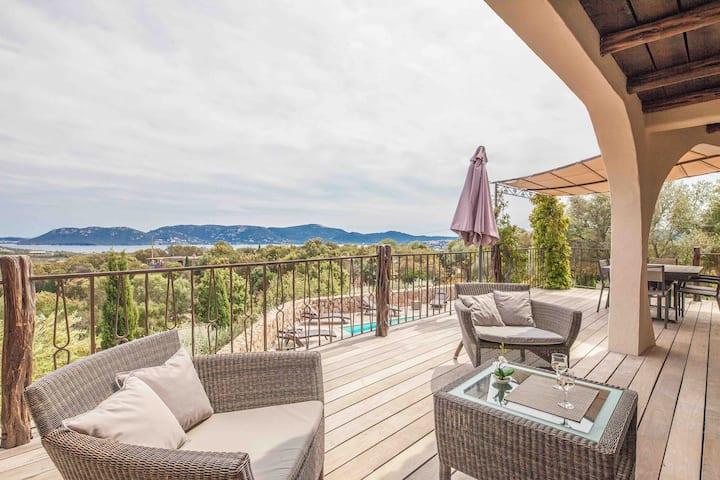 PROMOVilla de luxe avec piscine, vue mer, Casteddu