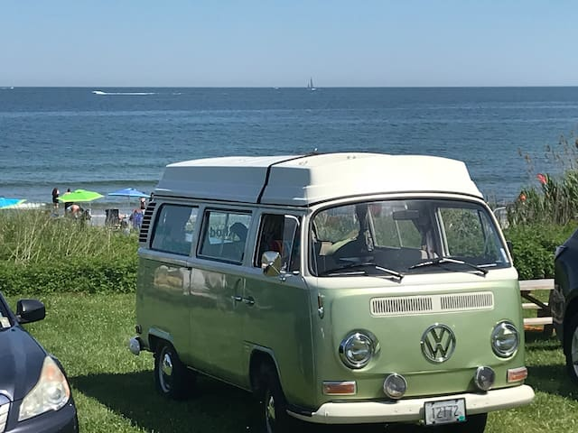 Restored Retro VW camper for local getaways