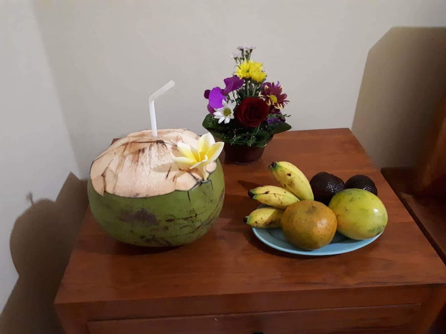 In front of house have fruit shop and anything else