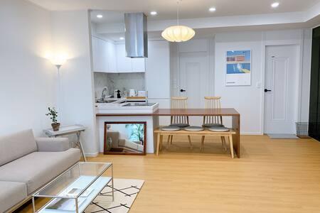 casa blocco/신축타운하우스 2개의 침실/ 헤이리예술마을 아울렛 단독테라스 바베큐