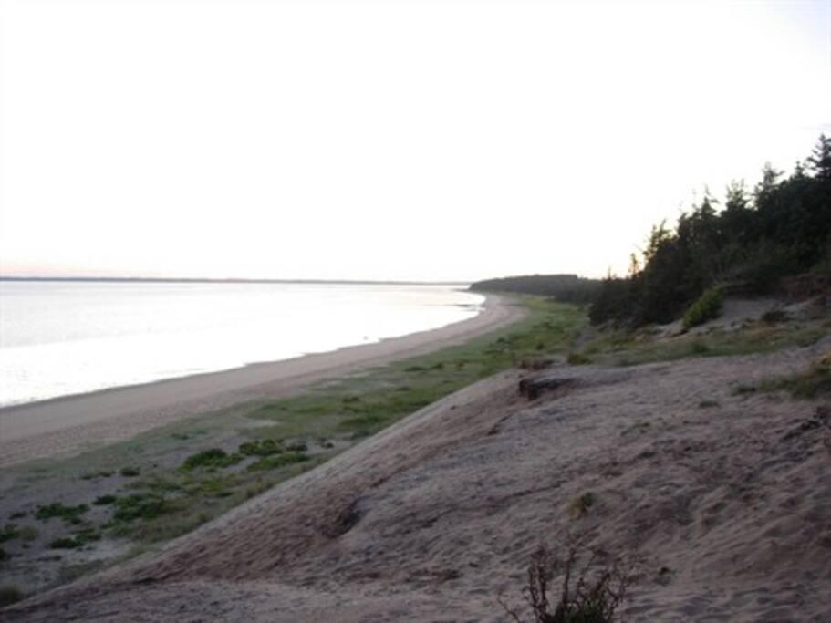 Stranden ved Sjelborg hvor der er gode badeforhold