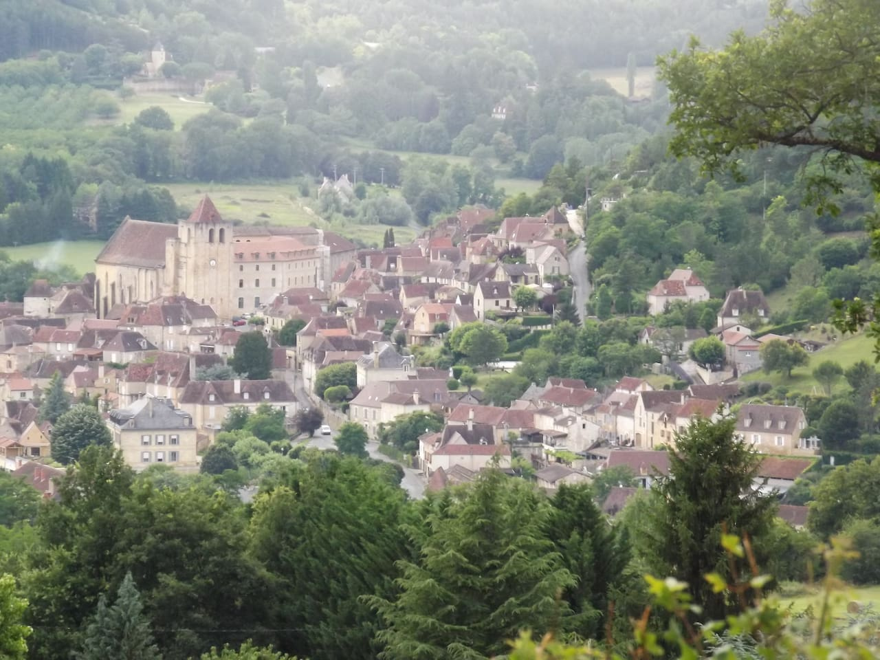 The village of Saint Cyprien with big Sunday market just a short stoll from the house.