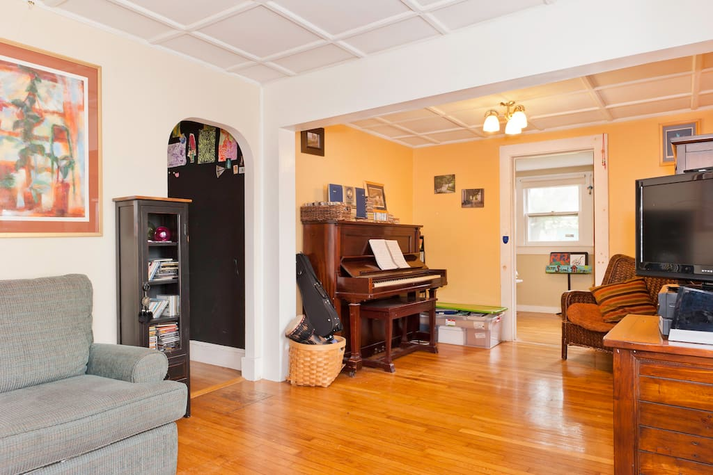 piano room attached top living room
