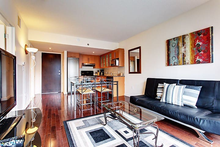 Modern 1 Bedroom Condo Steps From Festival 39 S Place Apartments For Rent In Montreal Quebec Canada