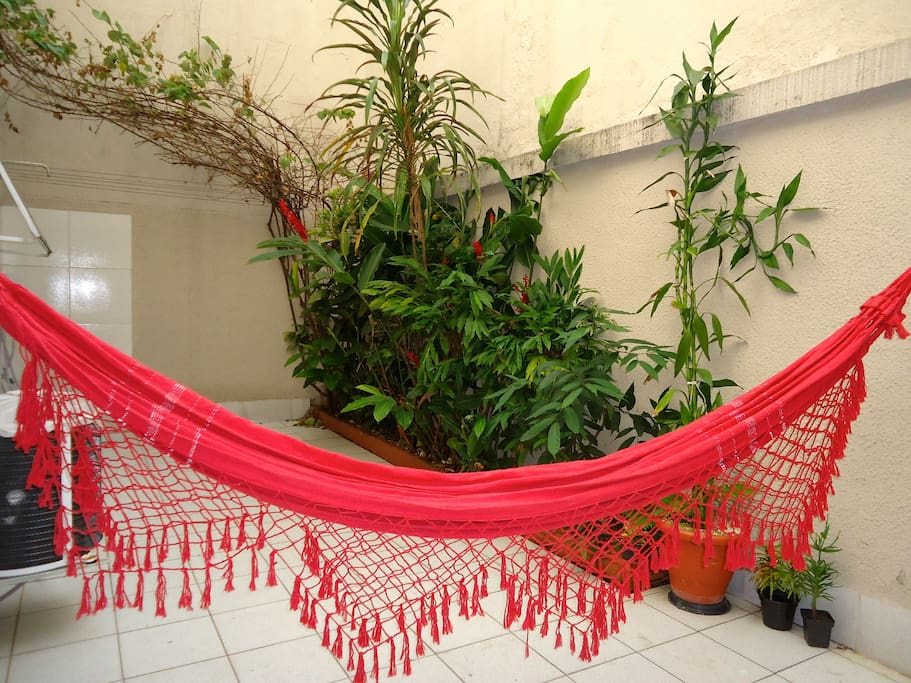 Outside Space with a Hammock