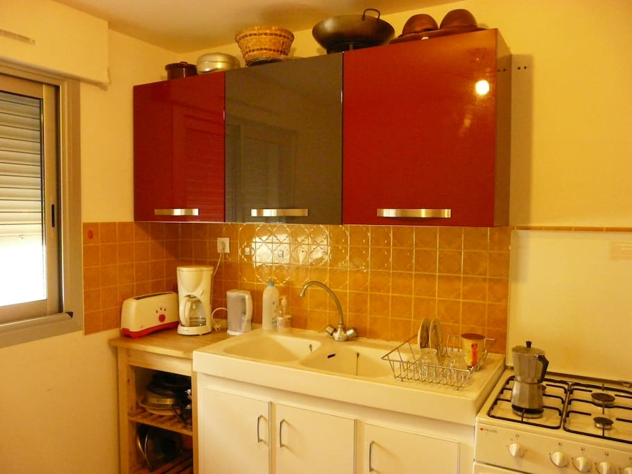 Une cuisine simple mais fonctionnelle...