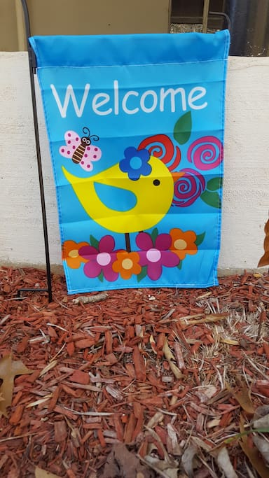 Like it says,  Welcome!