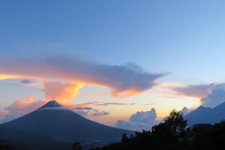 Views of Antigua+3 Volcanos Romantic Room 1 of 2 - Antigua Guatemala - Bed & Breakfast