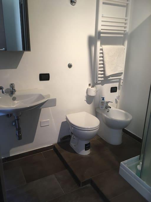 Bagno privato con accesso dalla camera