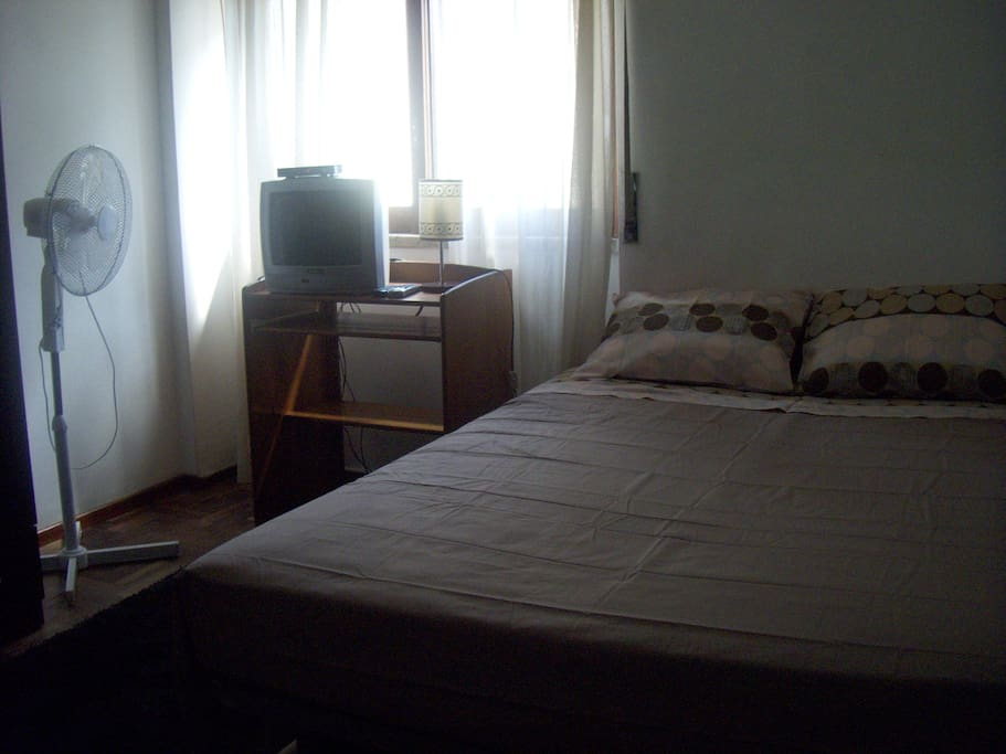 Bedroom 1 (double bed, TV, small table&chairs,fan)