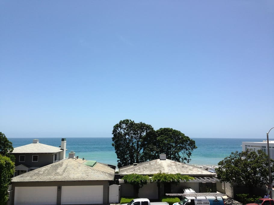View from The Deck. Beach access across the street.